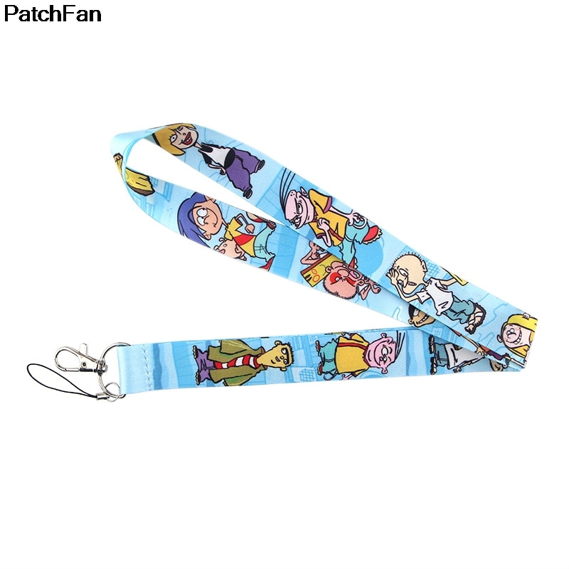 Patchfan Cartoon keychain lanyard webbing ribbon neck strap fabric id badge holders necklace accessory A2511