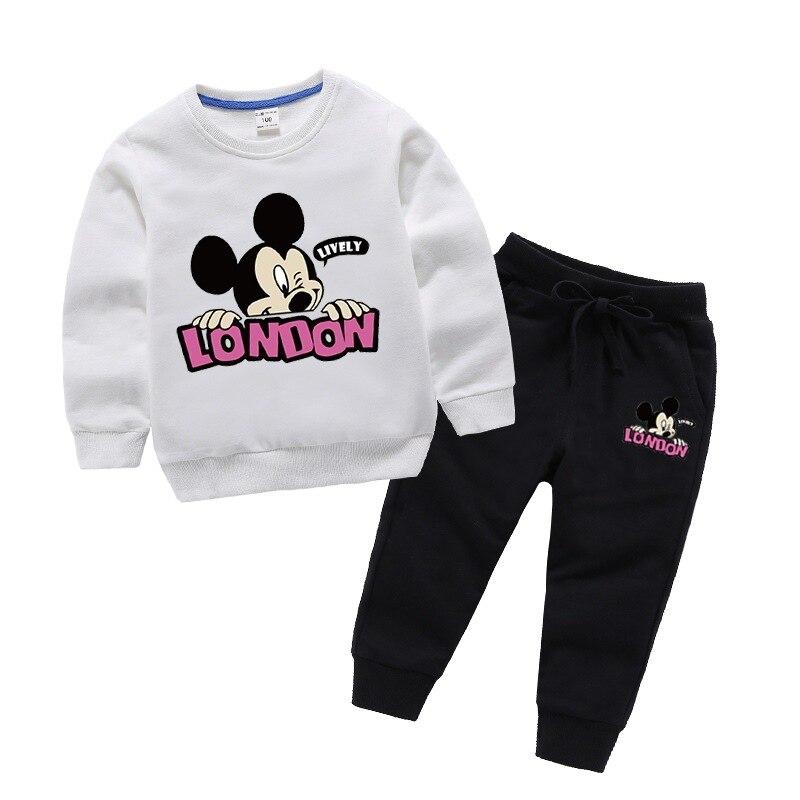 Conjuntos de ropa para niños primavera Otoño, conjuntos de ropa para bebés y niñas, Sudadera con capucha y pantalones de moda, trajes de 2 uds 2020 1-10 años, ropa para niños