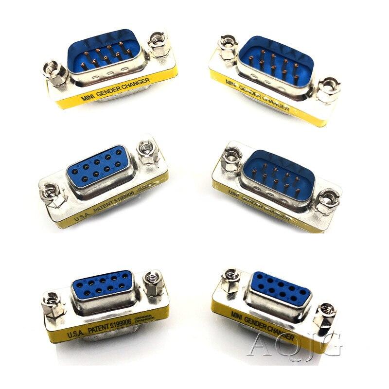 Адаптер для смены пола DB9 9Pin Male-Male, серийный Разъем RS232 Female-Male D-Sub
