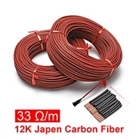 red silicone rubber far infrared warm floor room thermostat carbon fiber heating cable