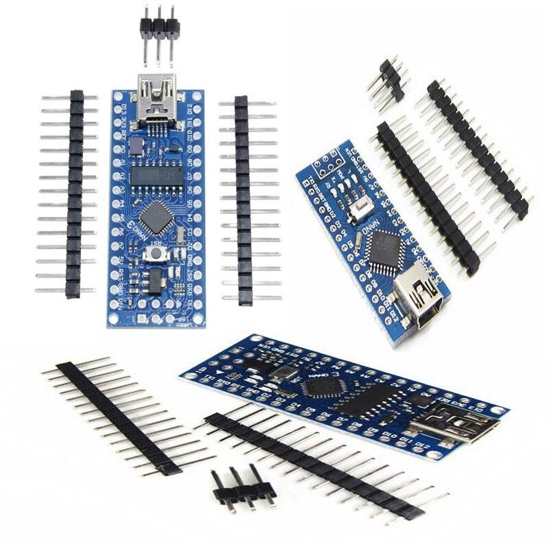 Mini USB para Arduino Nano V3.0 ATmega328P/168 P CH340G/328p-mu CH340G QFN microcontrolador BSG adaptador de terminal
