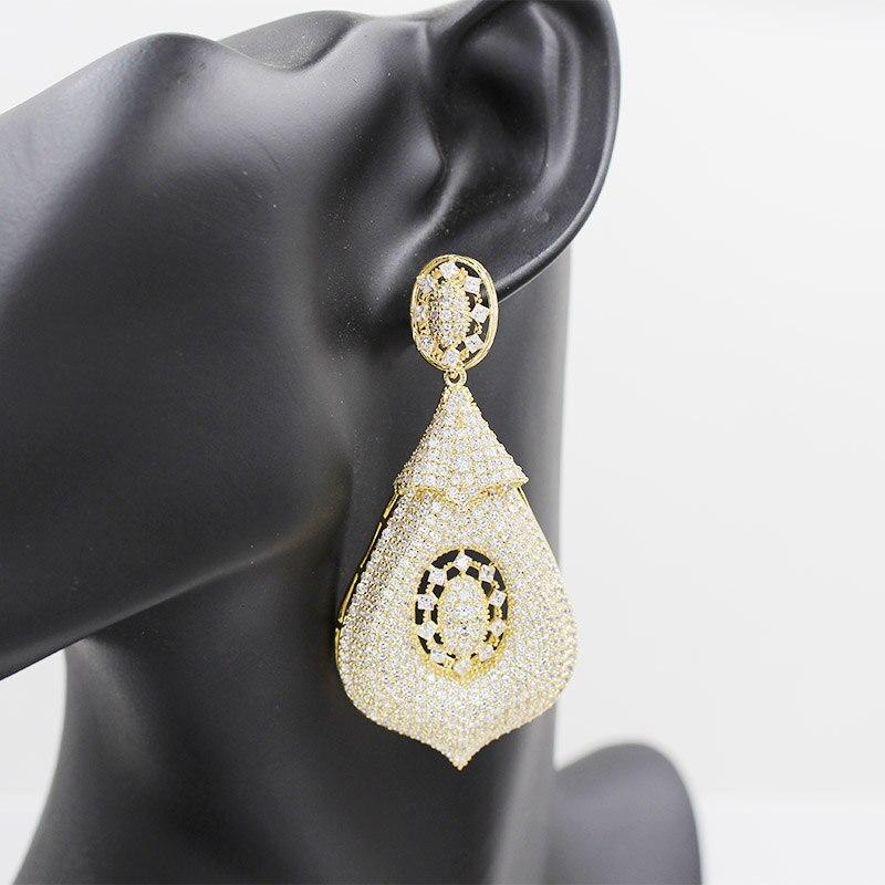 Dubai 18-karat gold pendant earrings, rose gold tassel jewelry earrings, wedding party ladies elegant and beautiful accessories