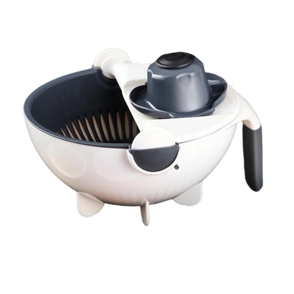 Rotação cesta de legumes arroz cesta de frutas tigela de frutas bandeja de armazenamento de dupla camada de drenagem cesta de cozinha