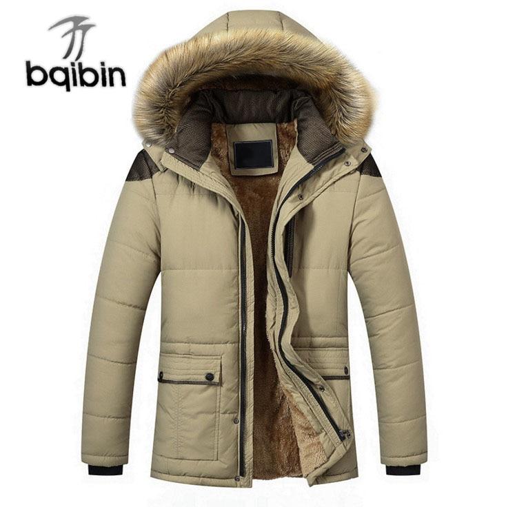 Chaqueta de invierno para hombre, abrigo informal grueso con Cuello de piel,...