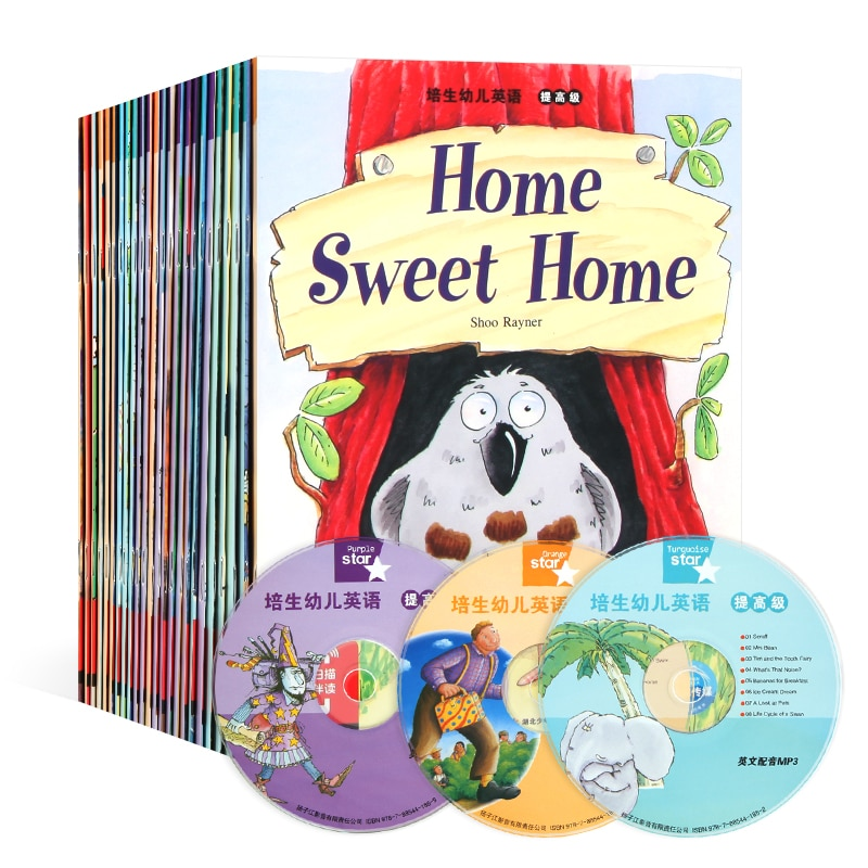 24 Books/set 21x15cm English Enlightenment Storybook Children Color Picture Books Reading Story Book for Kids Bedtime Stories