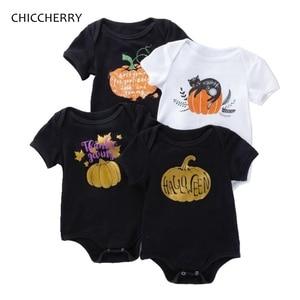 White Black Halloween Bebe Body Unisex Baby Girl Boy Bodysuit For Newborns Kids Jumpsuit Twins Baby Clothes Infant Clothing Wear