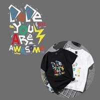 iron on awesome patches for clothing diy t shirt heat transfer vinyl washable stickers letter patch appliques on clothes press