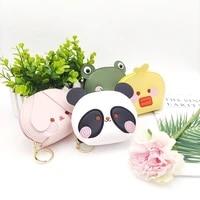 leather cute coin purses zipper childrens frog panda handbag for girls cartoon women wallet wallets holders cartoons clutch bag