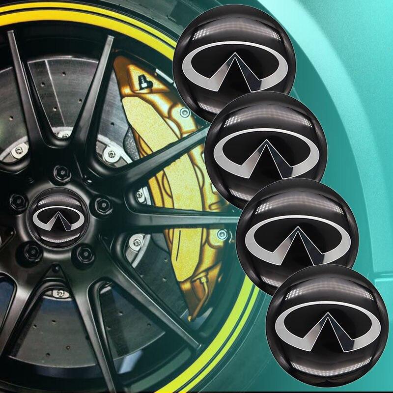Автомобильные аксессуары, 4 шт., 56 мм, автомобильные наклейки на колеса, Центральная крышка, автомобильная эмблема, значок, наклейка для Infiniti-...