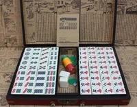 chinese mahjong set with engilsh chess games home chess box luxury mahjong party games jogos de tabuleiro adult games bi50cg