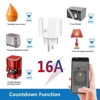 WiFi prise de courant intelligente ue 16A moniteur de puissance fonction de synchronisation maison SmartLife APP controle fonctionne avec Alexa Google Assistant