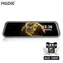 "HGDO 10"" Car Dvr  Rear View Camera  Mirror Dash Camera FHD 1080P Night Vision Dash Cam Auto Driving Recorder Dashcam with Mount"