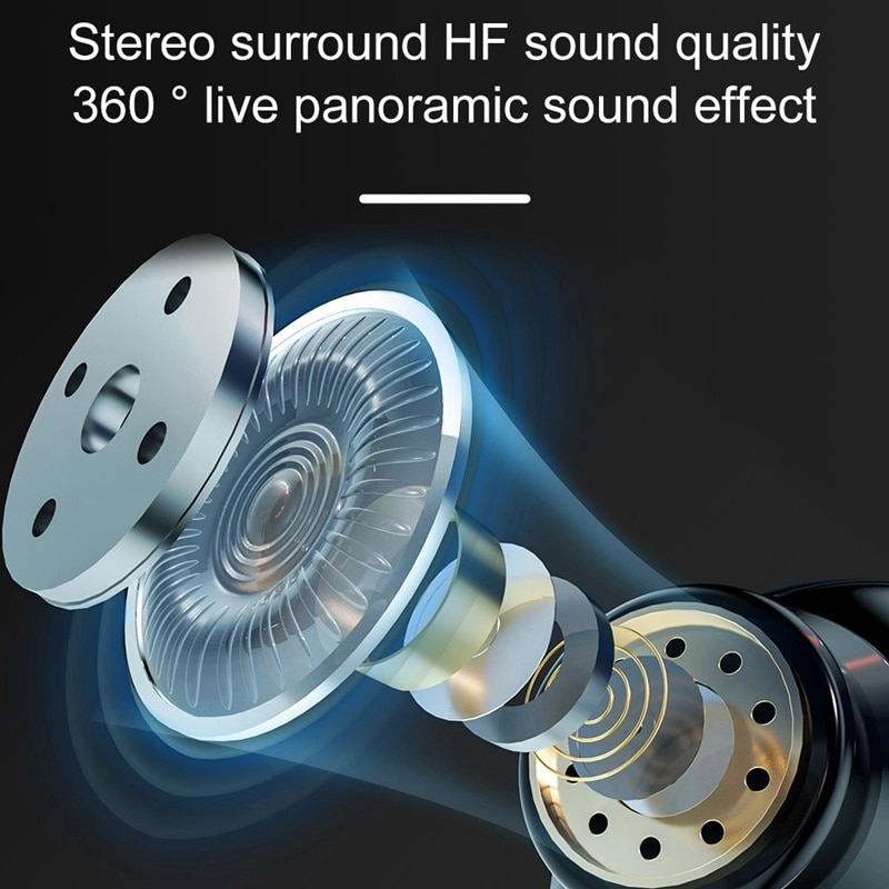 Gaming Headset Wireless Bluetooth Earphones Earbuds Super Bass With LED Light Low Latency Sound Positioning For Smart Phones enlarge