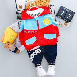 Toddler Kids Tracksuit Boys Girls Hooded Clothes Jacket + T-shirt + Pants 3 PCS/Set Infant Children Long-sleeves Costume