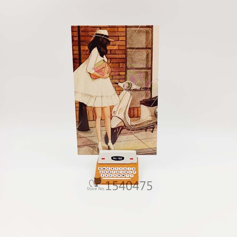 30 шт./лот Мультяшные красивые бумажные почтовые открытки для девочек в коробке фото украшение простые милые почтовые открытки подарки для д...
