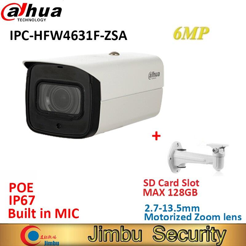 داهوا IPC-HFW4631F-ZSA 6MP IP كاميرا فاريفوكال عدسة بموتور 2.7-13.5 مللي متر POE Cctv الأمن IR80m كاميرا بنيت في هيئة التصنيع العسكري Max128G