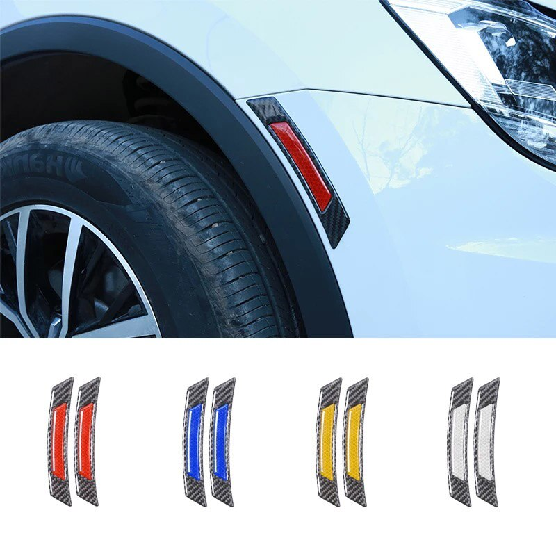 Car door Wheel eyebrow car stickers Auto reflective stickers for BMW Volkswagen Toyota Ford Mazda Audi body decoration luminous