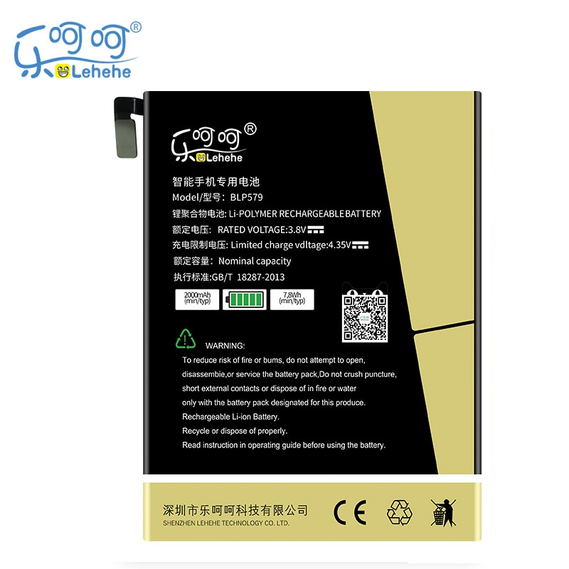 Nova bateria lehehe blp579 para oppo r8105 r817 0r5 2000 mah bateria replacementwith ferramentas presentes