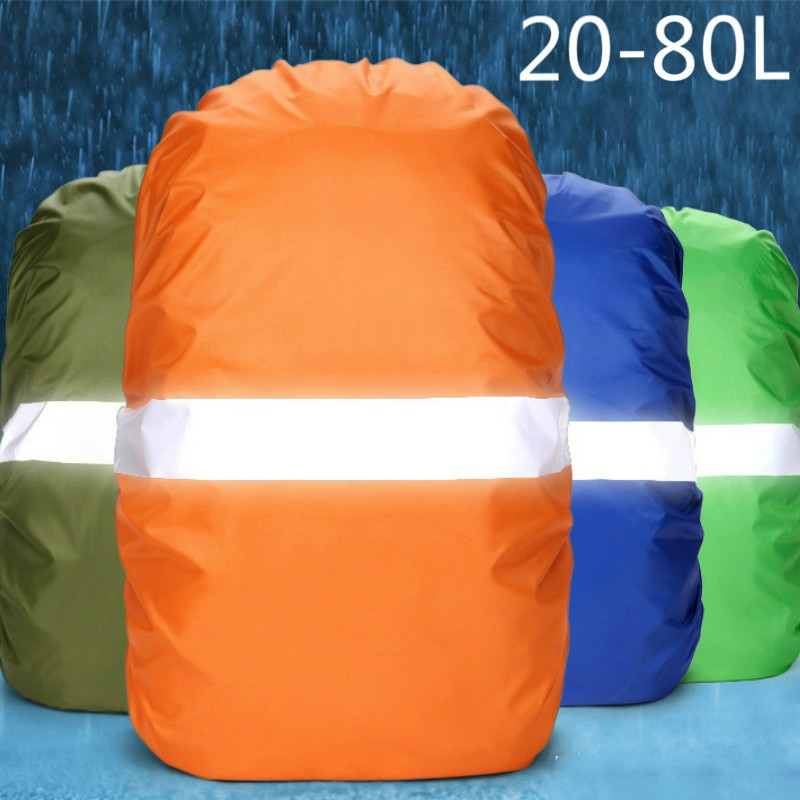 Rain Cover Backpack Reflective 20L 35L 40L 50L 60L Waterproof Bag Camo Tactical Outdoor Camping Hiking Climbing Dust Raincover