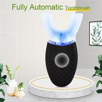 Водонепроницаемая ультразвуковая зубная щетка, полностью автоматическая мягкая электрическая зубная щетка с USB-зарядкой, U-образная, для от...