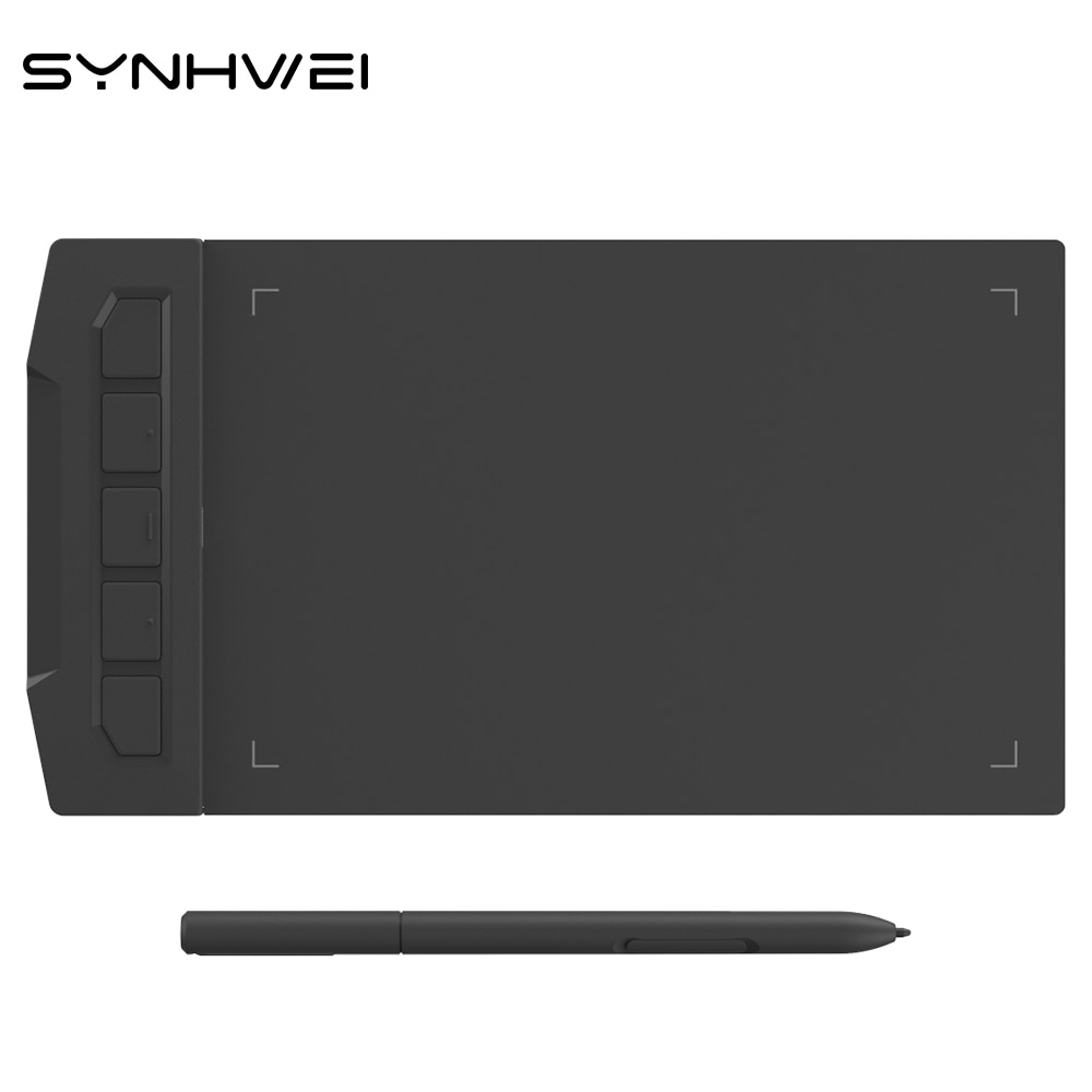 SYNHWEI X1 6 inch Graphics Tablet For Drawing Writing Osu Game 8192 Level Battery-Free Pen Digital Tablet Windows Android Mac