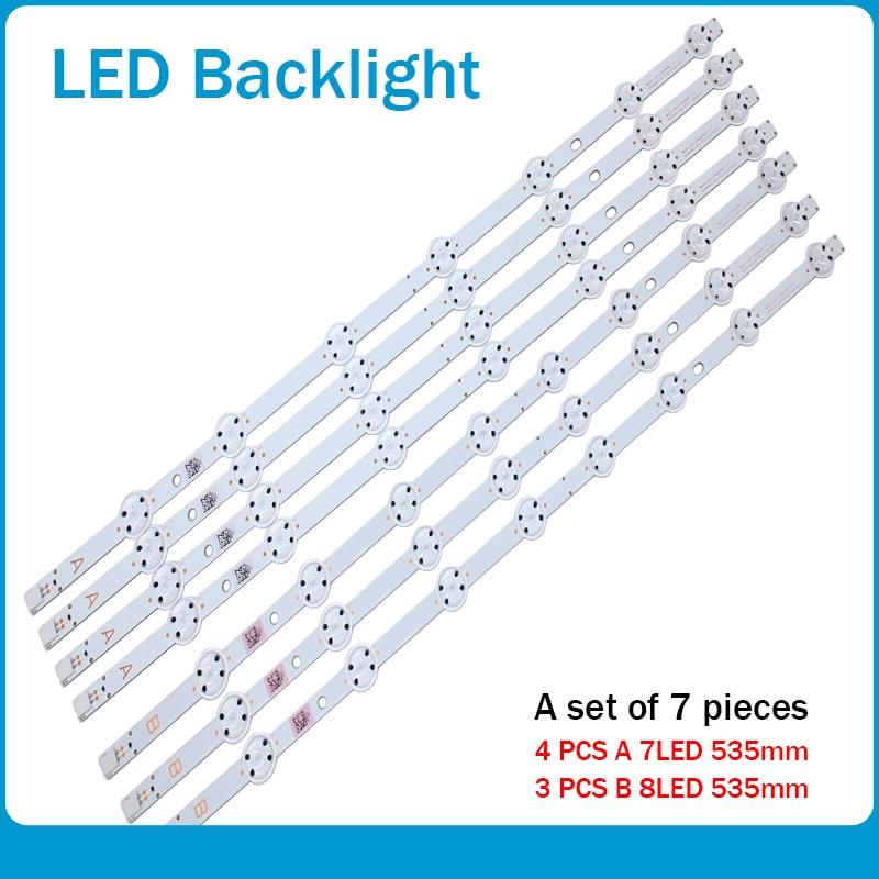 جديد كيت 7 قطعة LED شريط إضاءة خلفي ل LUX0155004 VES550QNDS-2D-N12 VES550QNDS-2D-S11 SVV550AK7_UHD_7LED_A B نوع 55AO4USB