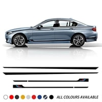 car styling door side stripes skirt stickers waist line body kit decal for bmw f20 f22 f45 f30 f32 f10 g30 g32 f36 m3 m4 f12