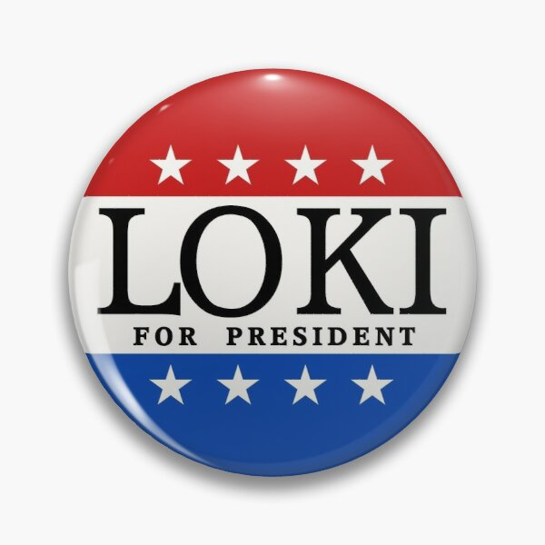 Loki For President  Soft Enamel Pin Badge Decorative  Clothes Badge Lapel Pin Brooch Jewelry for Wom