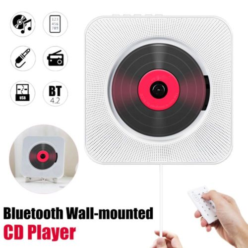 Wall Mounted CD Player Surround Sound FM Radio Bluetooth USB MP3 Disk Portable Music Player Remote Control Stereo Speaker Home enlarge