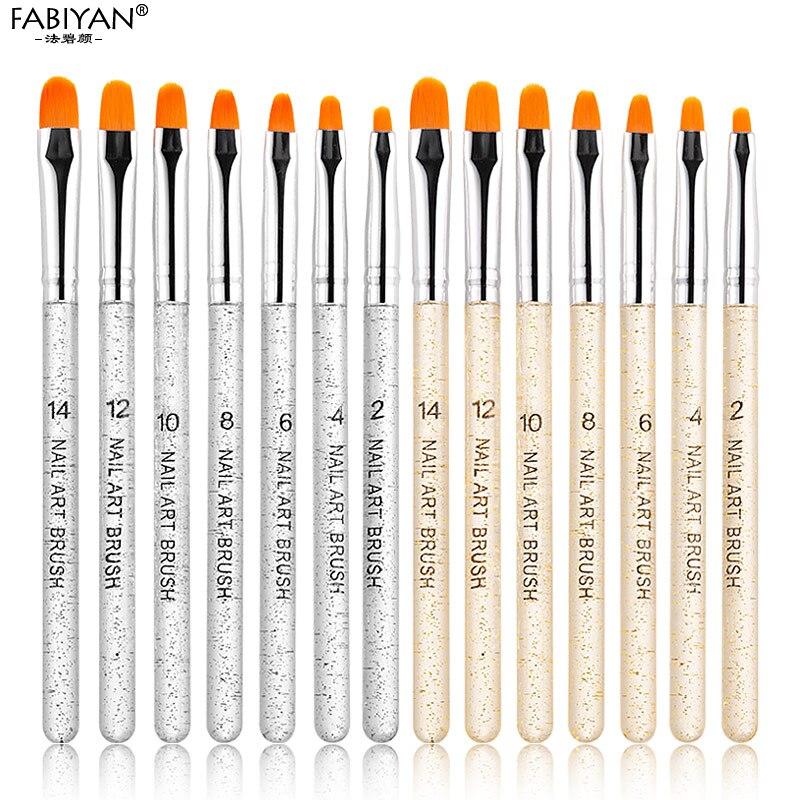 Профессиональная маникюрная УФ-гелевая ручка, 7 шт., прозрачная акриловая кисть для рисования ногтей, инструменты для фототерапии