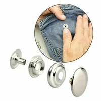 202pcsdiy15mm stainless steel big white buckle repairsew free kit buttons tools leather crafts clothing handbags home improveme