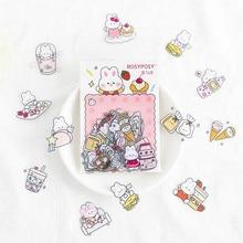 40PCS/LOT Happy Days Kawaii Cartoon PVC Stickers Pack DIY Scrapbooking Decoration Supplies