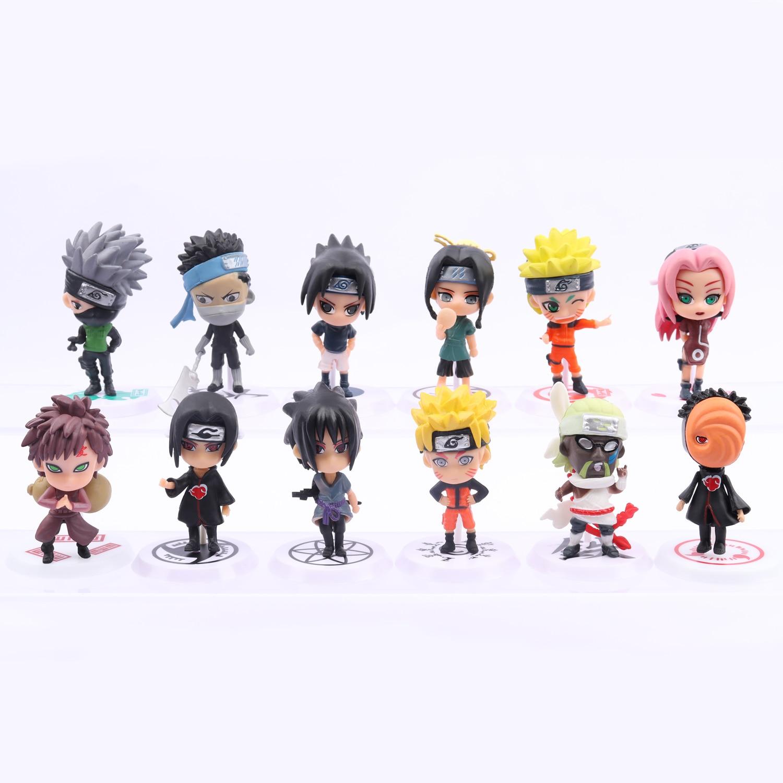 Экшн-фигура, аниме, детские подарки Наруто, Саске, Наруто, 6 шт.