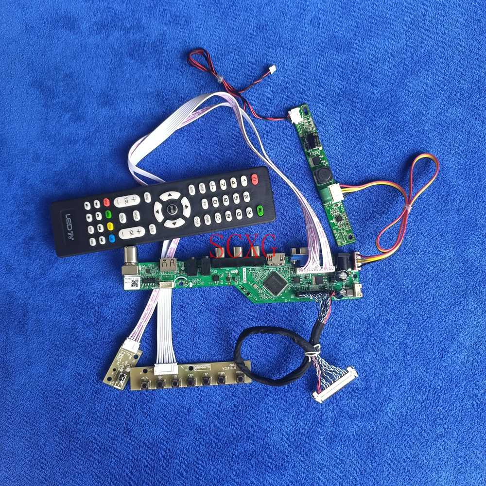 30Pin-LVDS AV VGA USB HDMI-متوافق 1920*1080 LCD شاشة LED لوحة تحكم إشارة التناظرية ل LTM230HP06/LTM230HP07 لتقوم بها بنفسك عدة