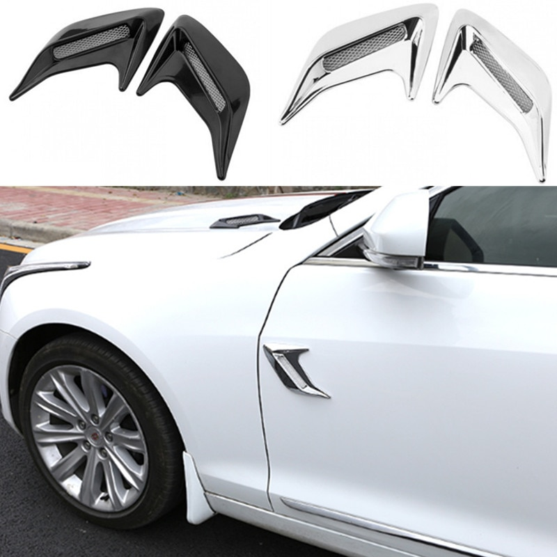 2pcs Car Fender Sticker Car Simulation Side Vents Decorative for Subaru XV Forester Outback Legacy Impreza XV BRZ Tribeca
