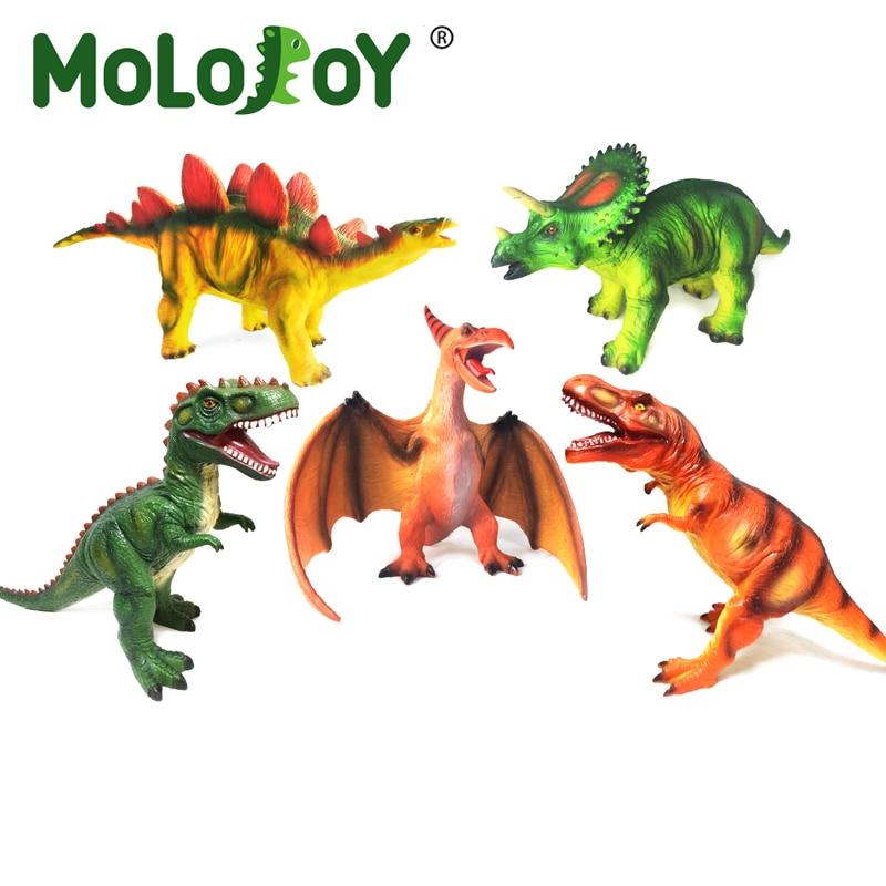 65CM Dinosaur Model Toy Big Size Jurassic Worlds Park Tyrannosaurus Rex Soft Puppets Velociraptor Toys for Kids