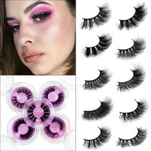 Full Strip Mink Handmade Natural Thick Lashes Wispy Makeup Extention Tools 3D Cruelty Free Mink Hair
