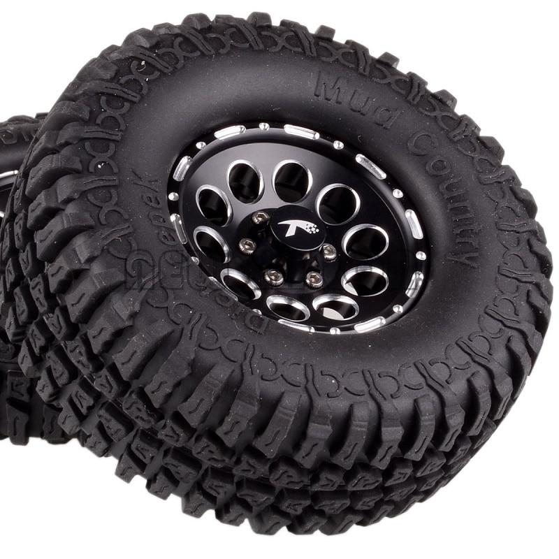 "NEW ENRON 4PCS 1.9""Aluminum Beadlock Wheel Rim 100MM Tires Tyre FOR RC CAR  Rock Crawler 1/10 TRX-4 TRX4 CC01 MST jimny TF2  D90"