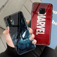 Marvel venom glass phone case for huawei p20 p30 mate20 30 pro 5G lite p20pro mate20pro back cover Super hero phone coque
