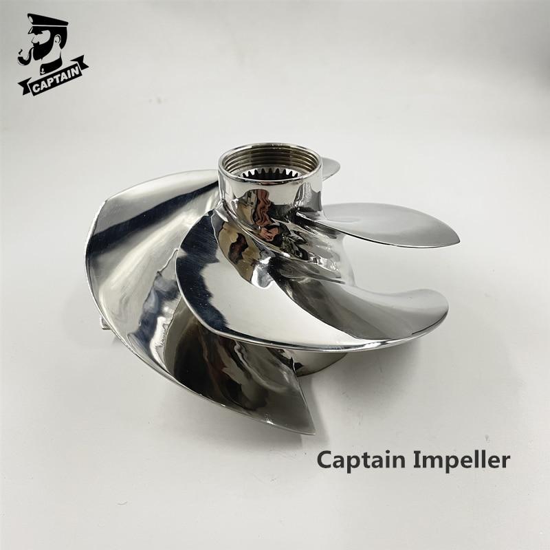 Captain Impeller Jet Ski 267000951 Fit Seadoo BRP RXP-X 300 / RXT-X 300 / GTX LIMITED 300 161mm 4 Blades Polished enlarge