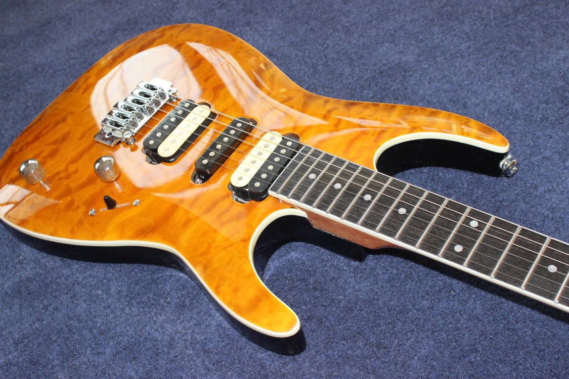Custom shop,electric guitar.Flame top gitaar,handmade 6 stings guitarra,Rosewood fingerboard enlarge