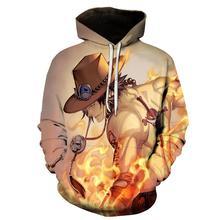 NEW fashion Sweatshirts Men/women Tracksuits Tops Print 3D Hooded Anime One Piece AS Hoodies Thin Autumn Sweatshirts