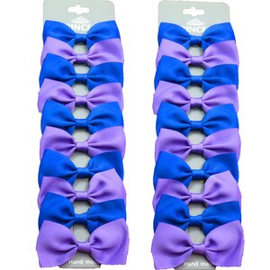 20PCS/Lot Lovely Purple and Blue Hairpins Grosgrain Ribbon Bows Clips 2020 Korean Creativity Hair Accessories For Baby Girls
