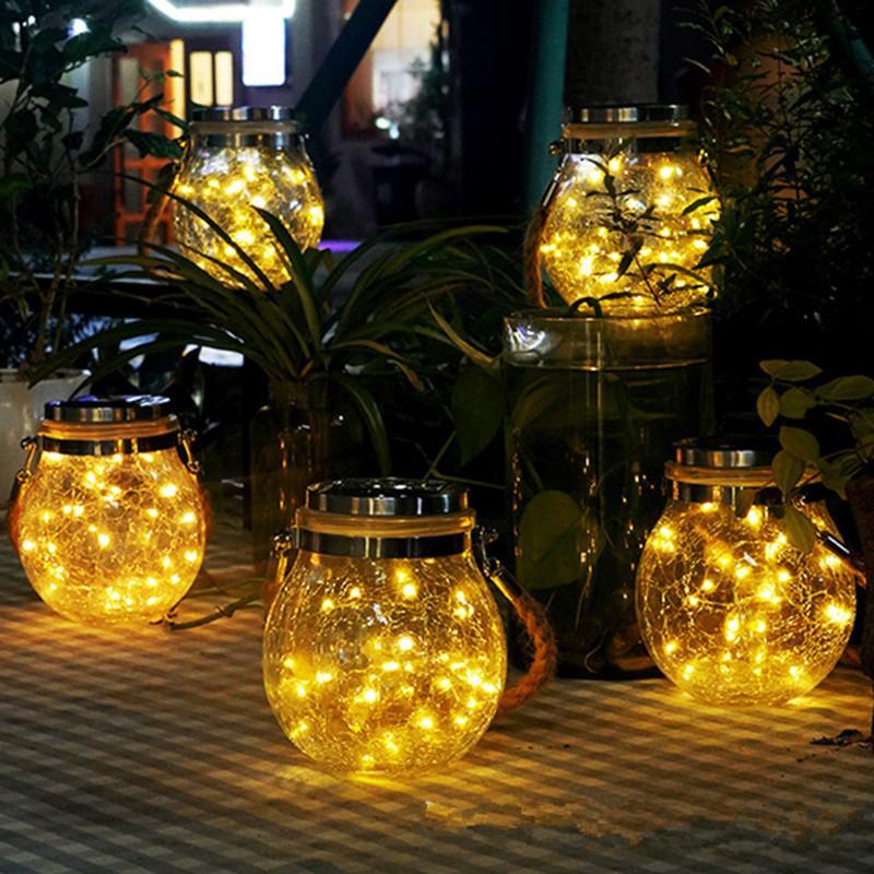 Led زجاج شمسي ضوء الجنية الكراك زجاجة ضوء Led سلسلة مصباح للطاقة الشمسية حديقة في الهواء الطلق ضوء (مع قارب زجاجي)