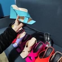 Summer high-heeled slippers luxury women's high-heeled sandals non-slip ladies fashion outdoor sanda