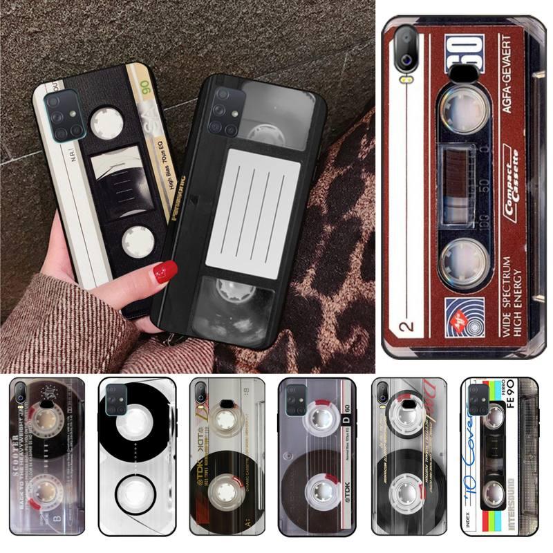 CUTEWANAN Classical Old Cassette Cover Black Soft Shell Phone Case For Samsung A10 A20 A30 A40 A50 A70 A71 A51 A6 A8 2018