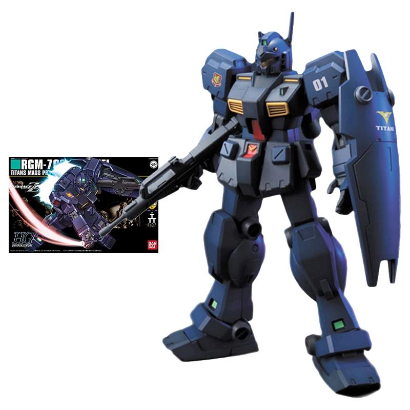 Набор моделей Bandai Gundam HGUC 1/144 RGM-79Q GM Quel оригинальные Аниме фигурки, коллекционные фигурки, игрушки для детей