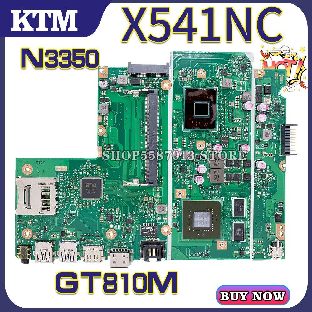 X541N ل ASUS X541NC A541N R541N F541N A541NC اللوحة المحمول اللوحة 100% اختبار موافق N3350 cpu GT810M