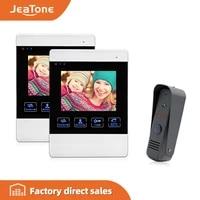 jeatone 4 hd color monitor 1200tvl high resolution video record door phone door bell intercom system night vision speakerphone