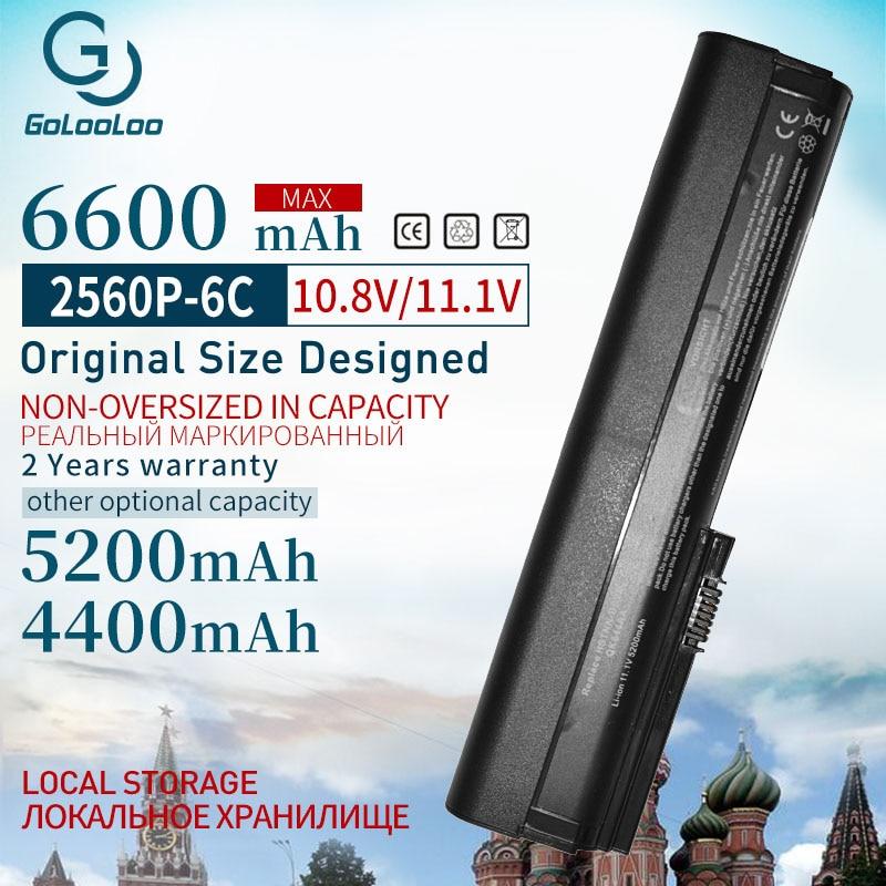 Golooloo 11.1V 5200mAh da bateria do portátil para HP 632015-542 632016-542 632417-001 HSTNN-UB2L QK644AA SX06XL para EliteBook 2560p 2570